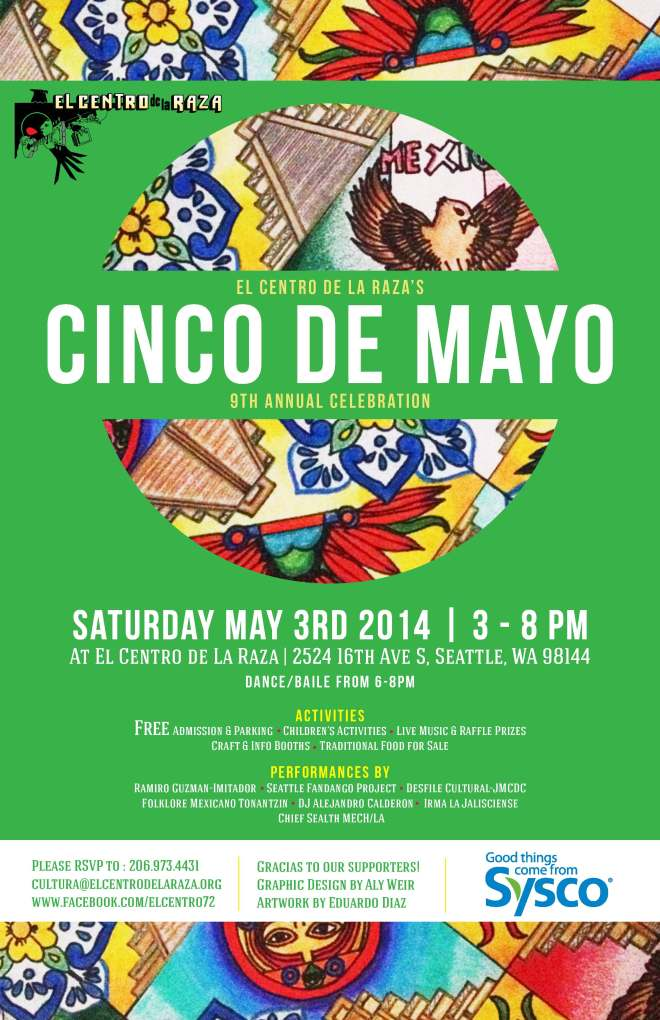 Cinco de Mayo Celebration (FREE) - Saturday, May 3, 2014 from 3-8 PM